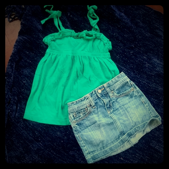 Old Navy Other - Girls size 6 Old Navy Tank and Jean skirt